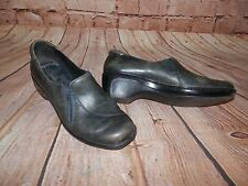 CLARKS Women's Size 8.5M Blue Marble 83638 Wedge Elastic Zip Loafers Shoes 1909