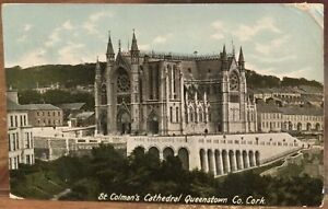 Irish Postcard ST COLMAN'S CATHEDRAL QUEENSTOWN Cobh Cork Ireland Lawrence 1913