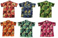 MENS HAWAIIAN SHIRT STAG BEACH HAWAII ALOHA PARTY SUMMER HOLIDAY FANCY S -XXL D0