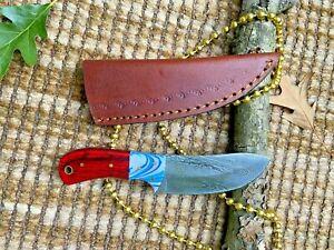 MH KNIVES CUSTOM HANDMADE DAMASCUS STEEL FULL TANG HUNTING/SKINNER KNIFE MH-319T