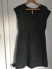 White Stuff Size 16 Grey Green Wool Mix Tunic Dress In Good Condition
