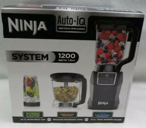 Ninja Kitchen System with Auto IQ Boost and 7-Speed Blender BL493 BRAND NEW
