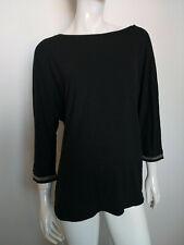 DESIGNED BY STEFFEN SCHRAUT women's top blouse 3/4 sleeve black size M