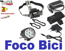 Luz foco para bici 11 LED 14000LM linterna bicicleta SENDERISMO 11xCREE XM-L btt