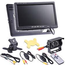 "7"" TFT LCD Monitor Car Wireless Control Rear View Backup Camera Recorder DVD"