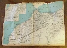 Geography map morocco/map of france taride 35 x 49cm