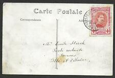 Belgium covers 1915 10c RED CROSS stamp on PPC Le Havre to Rennes