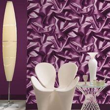 Muriva Froncé Satin soie effet papier peint violet - F72906 NOUVEAU Designer