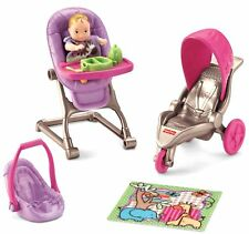Everything for Baby Doll Set High Chair Stroller Car Seat Toy Girl Kids Play New