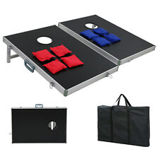 CornHole Bean Bag Toss Game Set Aluminum Frame Portable Design W/ Carrying Case