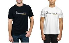 Muhammad Ali SIGNATURE T-shirt Boxing Legend T Shirt Men's Gym Training Tee