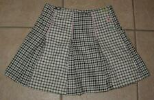 GYMBOREE Trendy Girls Large 12 / 14 Black & White Adjustable Waist Scooter Skort