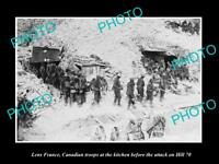 OLD LARGE HISTORIC MILITARY PHOTO WWI LENS FRANCE CANADA TROOPS AT HILL 70 1917