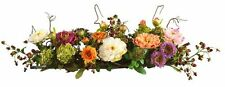 NEW Natural Peony Centerpiece Silk Flower Arrangement Mixed Wedding Table Decor