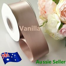 Vanilla SATIN RIBBON DOUBLE FACED 50 mm x91 Meters (100Y) for car and Invitation