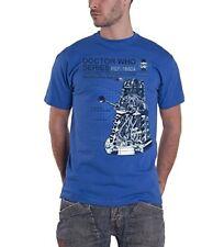 Official Doctor Who Haynes Manual Critical Dalek Adult Blue T-shirts Medium