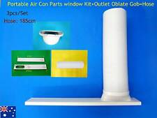Portable A/C Spare Part Outlet oblate gob+Window Kit+hose 1.85m - 3pc/Set (15cm)