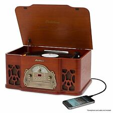 Electrohome Wellington Record Player Retro Vinyl Turntable Real Wood Stereo