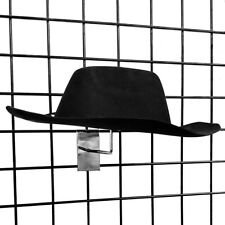 Gridwall Single Hat Rack Millinery Display with Foam Pads, Chrome or Black