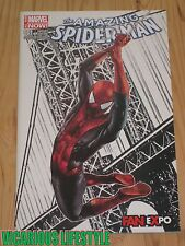 The Amazing Spider-Man #1 2014 Fan Expo Mico Suayan Partial Sketch Variant NM