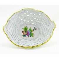 Hungarian Porcelain Herend Queen Victoria Basket