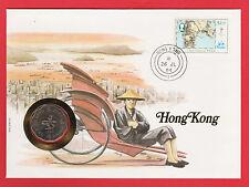 HONG KONG CHINA 1982 2 DOLLARS ASIA COIN STAMP 1 $ YUAN MAPS FDC HK NICE COVER