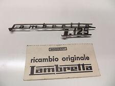 "RARE d'ORIGINE LAMBRETTA J 125 3 vitesses "" 318cm Mot pied protection BADGE"