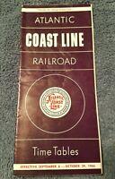 Atlantic Coast Line Railroad September 6 - October 29 1966 Train Time Tables