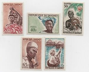 1963 Dahomey Stamps Assortment MH Sc #s 166,167,168,170,171 All XF