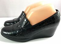 Clarks Bendables Womens Black Wedge Shoes Size 7 M