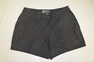 "Women's Nike Flex Woven Golf Shorts 4.5"" Black Grey 856791 010"