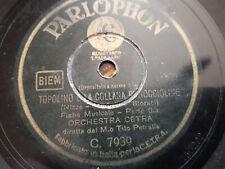 """78 giri """"ORCH CETRA """" TOPOLINO E LA COLLANA DI NOCCIOLINE """" PARLOPHON C. 7939 VG"""