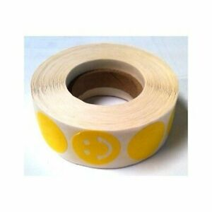Lot of 1000 Tanning Bed Body Stickers yellow smiley face Roll