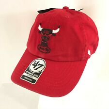 Chicago Bulls NBA Hat Cap '47 Brand Red Unisex Adult Size M