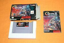 Contra III The Alien Wars in OVP NTSC US Super Nintendo SNES