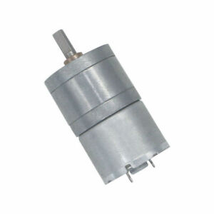 DC 6V-12V 100RPM Slow Speed Large Torque 25mm Metal Gearbox Gear Reduction Motor
