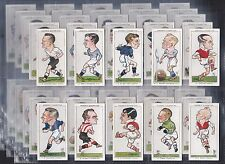 """OGDENS, FOOTBALL CARICATURES, ORIGINAL SERIES OF 50 ISSUED IN 1935 """"NICE SET"""""""