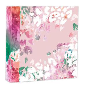 """Pink Floral Design Photo Album Holds 200 Photos Easy Slip In 4x6"""" Plus Memos"""