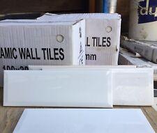 Gloss White Bevelled Edge Subway Wall Tile 100x300  18 Boxes Avail (40 Per Box)