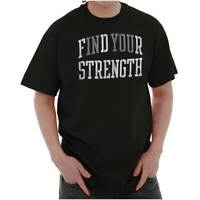 Find Your Strength In You Workout Motivation Short Sleeve T-Shirt Tees Tshirts