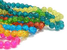 7 Strange Glasperlen Crackle 4mm Mix Farbe 700stk Rund Perlenset Schmuck D276