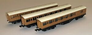3 x Graham Farish N Gauge Mainline Teak LNER Carriages
