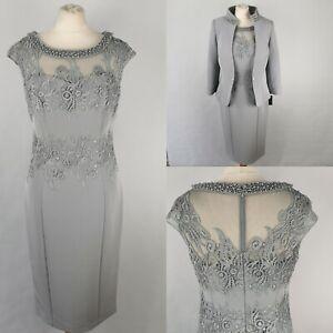 NEW Veni Infantino 10 Dove Grey Dress Jacket Dress Mother of The Bride 991436