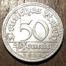 PIECE DE 50 REICHSPFENNIG 1921 A WEIMAR RÉPUBLIC (440) ALLEMAGNE ALUMINIUM