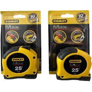 Lot Of 2  25' Stanley Max Tape Measure # 33-279