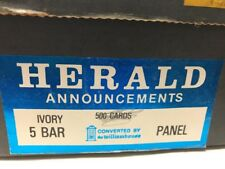Herald Announcements (350 cards) Ivory 5 Bar Panel Cards