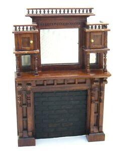 Very Rare Reminiscence Limited Edition Victorian Fireplace Dollhouse Miniature