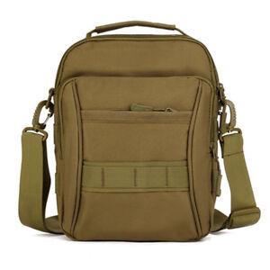 Men's Military MOLLE Tactical Handbag Outdoor Travel Messenger Shoulder Bag Pack