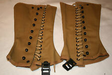 US ARMY M1938 CANVAS GAITERS/SPATS SIZE 4R WW2 REPO