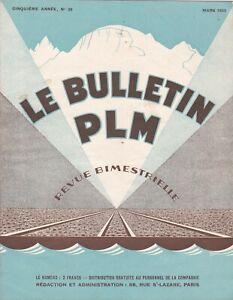 revue bulletin PLM n°26 /  Mars 1933